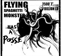 Flying Spaghetti Monster has a posse