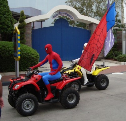 Spider-Man and Storm from Islands of Adventure in Florida