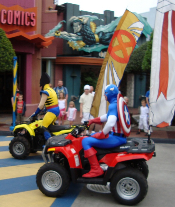 Wolverine and Captain America from Islands of Adventure in Florida