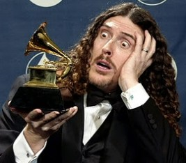 Weird Al Yankovic and friend