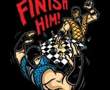 MK Mortal Kombat Chess Finish Him shirt from Tshirt Bordello