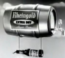 Rheingold Extra Dry Beer Keg Zeppelin