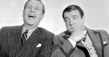 Abbott and Costello, looking snazzy