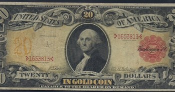 Old twenty dollar bill