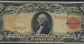 Old twenty dollar bill