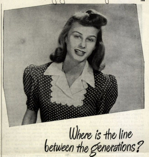 Vintage Tampon Ad: Where is the line between the generations?