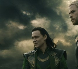 Tom Hiddleston as Loki and Chris Hemsworth as Thor in Thor: The Dark World 3D