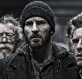 John Hurt, Chris Evans and Jamie Bell from Snowpiercer