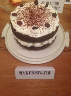 The Black Forest Gateau is on Danny as punishment for his little indiscretion.
