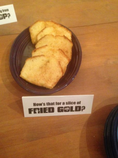 How's that for a slice of Fried Gold? (or fried pound cake)