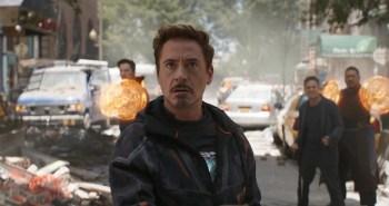 Robert Downey Jr as Tony Stark in Avengers: Infinity War