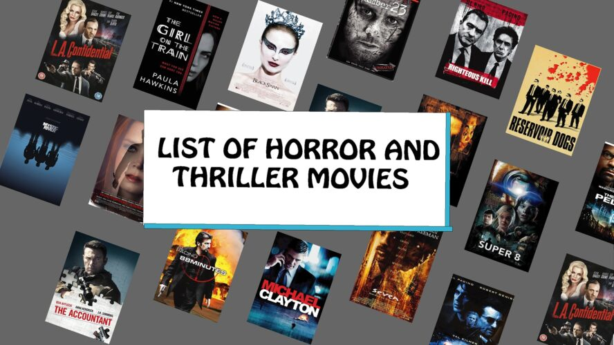 List Of Horror And Thriller Movies, needforlife, need for life, needforlife.info, best thriller movies, horror movies, Thriller Movies, top thriller movies