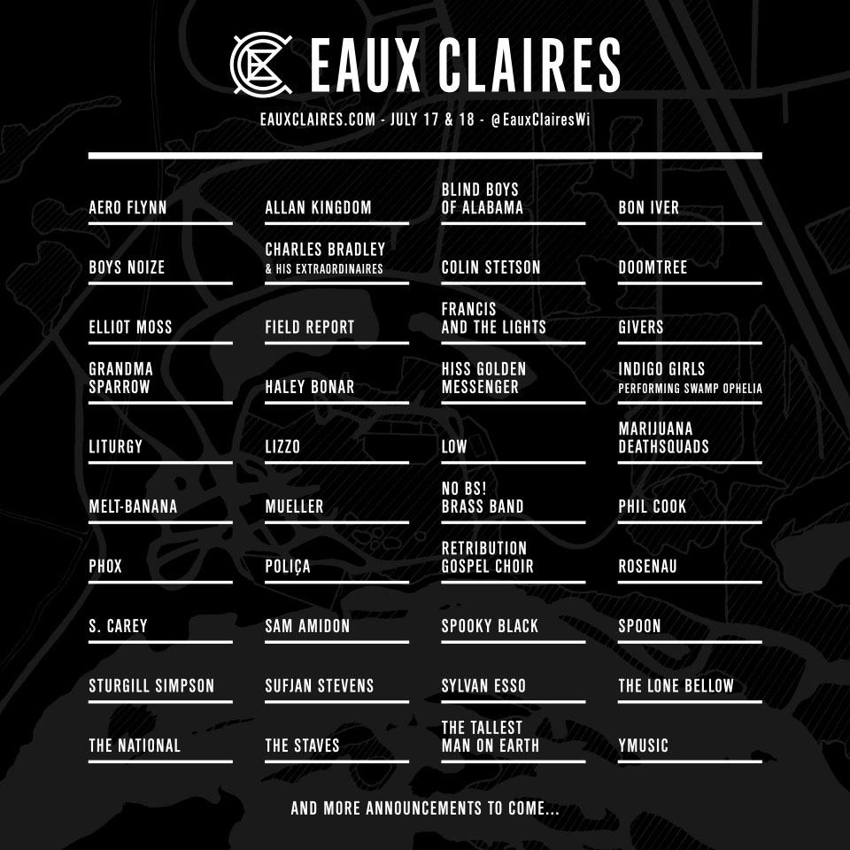 Eaux Claires Lineup