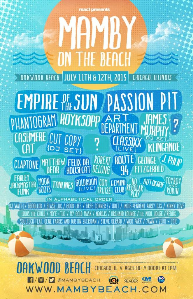 Mamby on the Beach Lineup