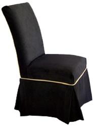 black parson chair covers ikea chairs kitchen slipcover style urbana fabric silken suede micro fiber