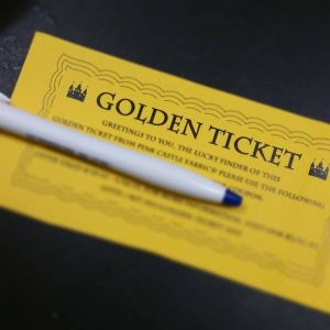 Golden Ticket, where every $50 spent gives you a ticket to discounts!