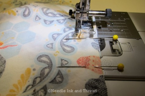 Straight lines! Follow that seam guide on your machine
