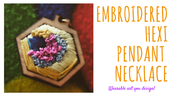 hexi embroidered necklace