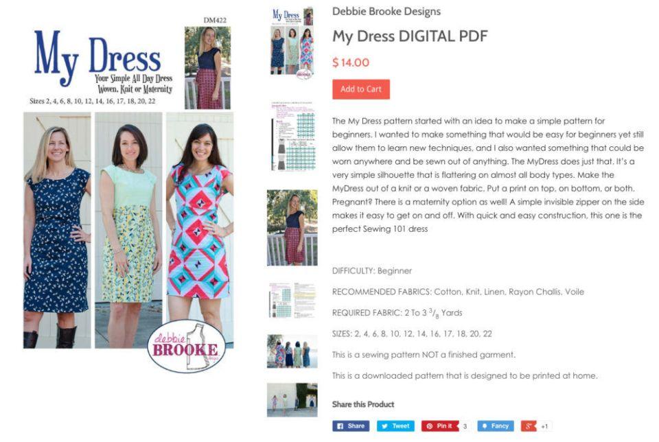 My dress by designer Debbie Brooke