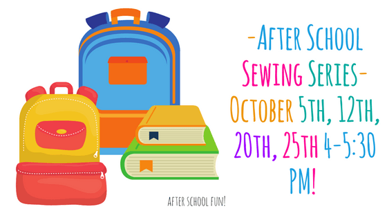 Kids After School Sewing Series! @ Needle, Ink and Thread | Beavercreek | Ohio | United States