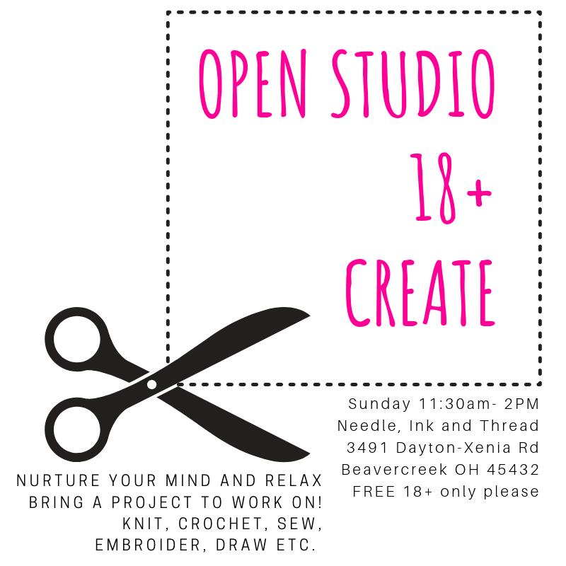 Open Studio - Create - 18+