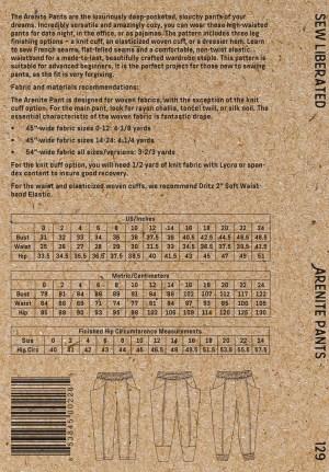 Arenite Pants -Sew Liberated - # SLN1Arenite Pants -Sew Liberated - # SLN129 - Printed Pattern29 - Printed Pattern