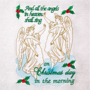 Christmas Angel Sing Christian Embroidery