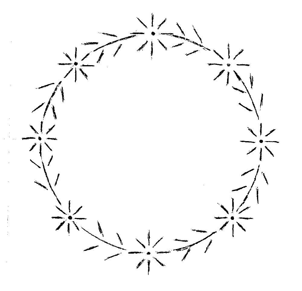 Simple Daisy Wreath Pattern