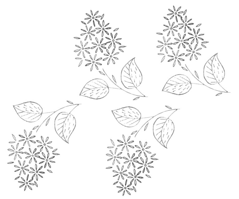 Embroidery Pattern Flowers