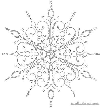 Large Snowflake Patterns