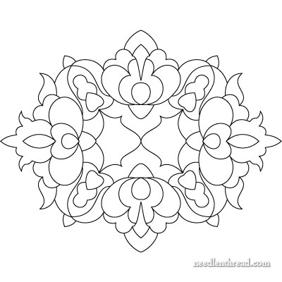Hungarian Hand Embroidery Pattern #11: Small