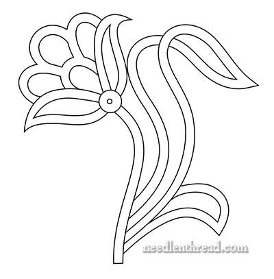 Free Hand Embroidery Pattern: Openwork Flower