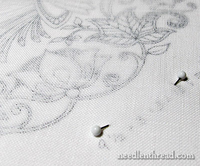 SG Embroidery Project: Ground Fabric, Design Transfer, and