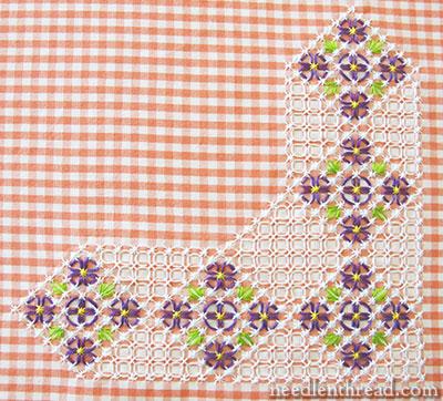 Chicken Scratch Gingham Lace Pattern Floral Corner 2