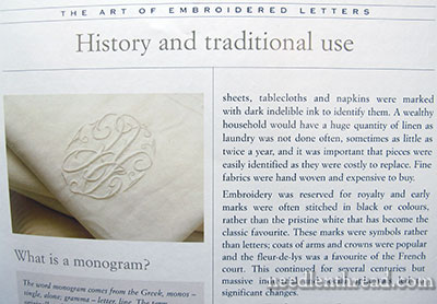Monograms The Art of Embroidered Letters  Book Review  NeedlenThreadcom