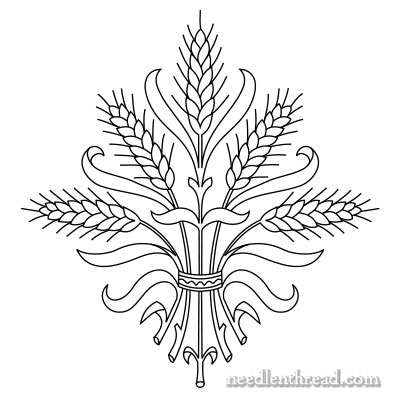 Free Hand Embroidery Pattern: Wheat