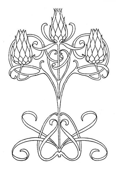 Art Nouveau Embroidery Patterns