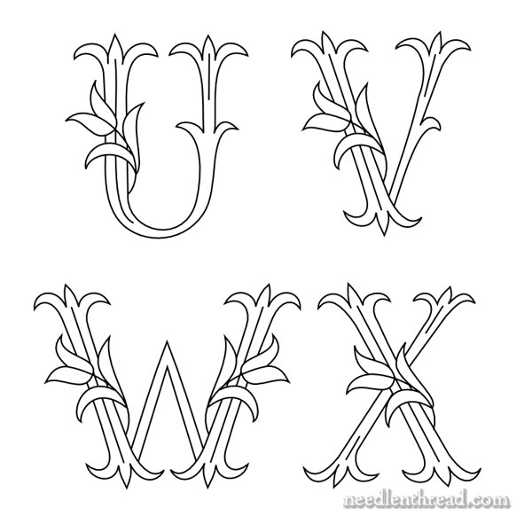 Tulip Monograms, Needlework Blogs & News
