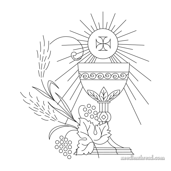 First Communion Embroidery Design
