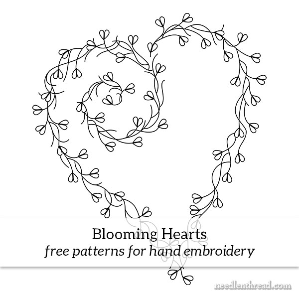 blooming hearts free hand