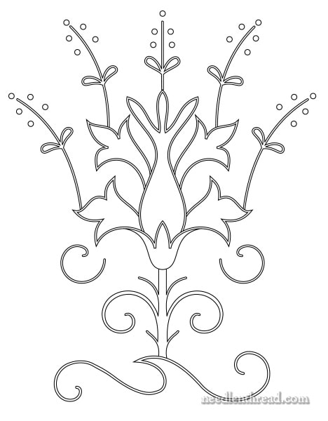 Free Hand Embroidery Design: Hinda Hands, Small I