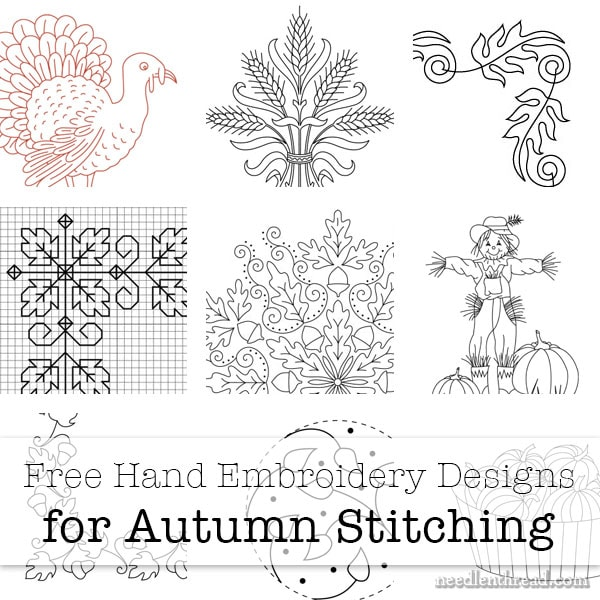 Free Hand Embroidery Designs for Autumn