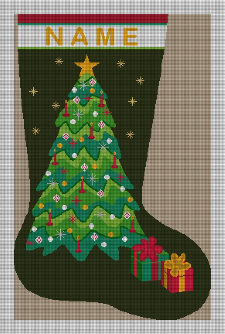 Forever Green Christmas Stocking Needlepoint Kit  NeedlePaint