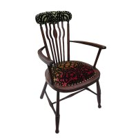 Sunset Spindle chair with Christian Lacroix designer fabric
