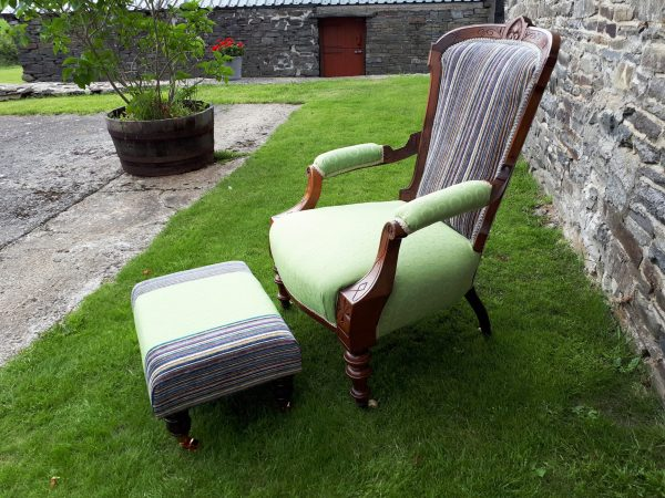 Granny Smith Grandmother Chair & matching Footstool