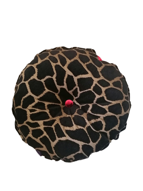 Kenya fabric with Carmine Red button