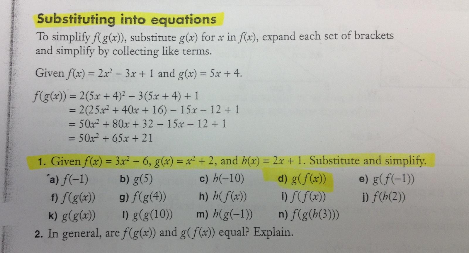 Nelson Math Textbook Grade 12 Advanced Functions