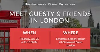 Meet Guest and Friends in London Holiday Rental Event