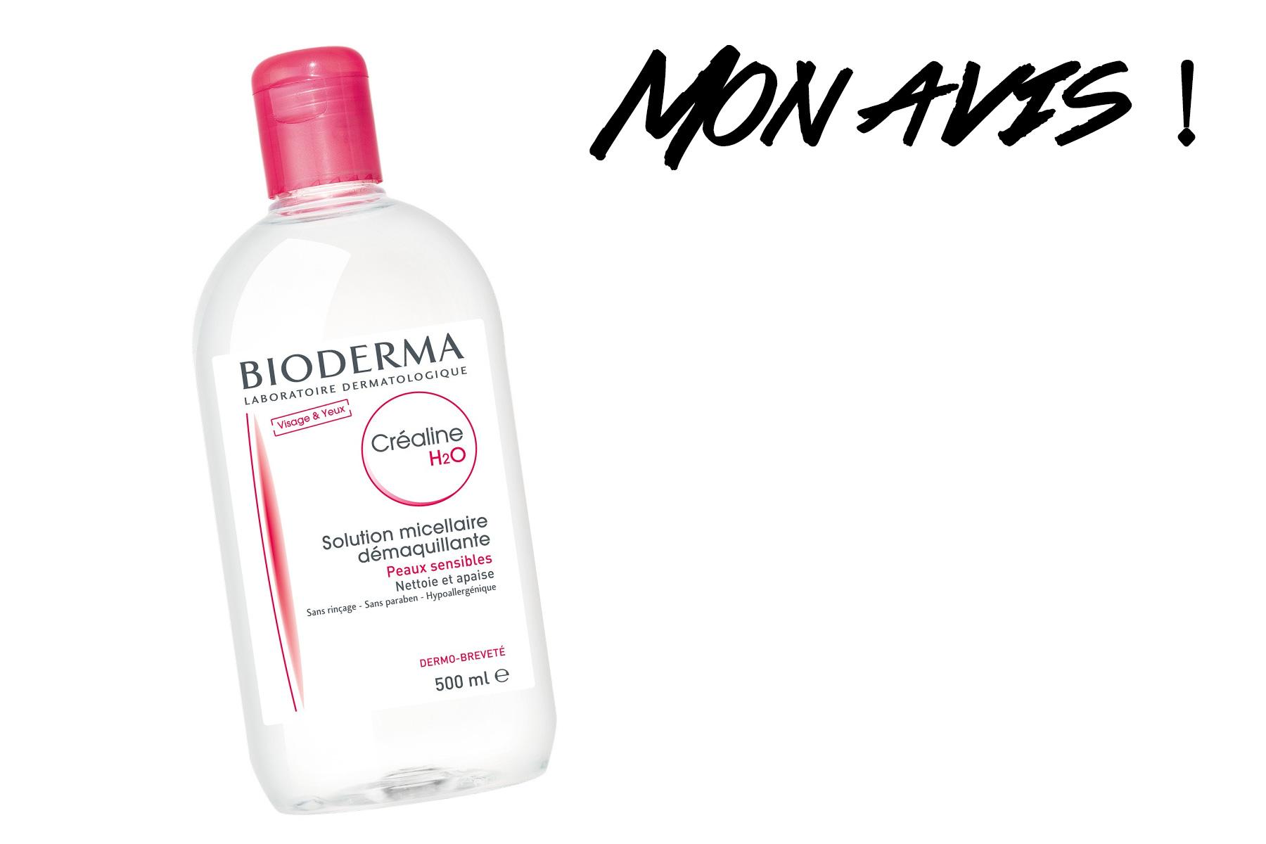eau micellaire Bioderma : mon avis sur la Créaline H20;