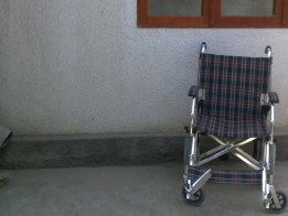 Photo of empty wheelchair